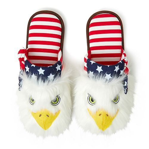 b8ae5f6c Dearfoams Americana Bald Eagle Slippers