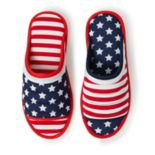 Dearfoams Americana Open Toe Slippers