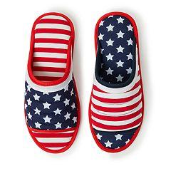 Dearfoams Americana Open Toe Slippers