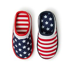 Kids' Dearfoams Quilted Americana Slippers