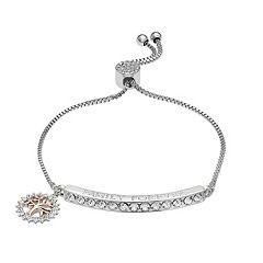 8b0e082c3 Brilliance 'Family Forever' Bar Bracelet with Swarovski Crystals