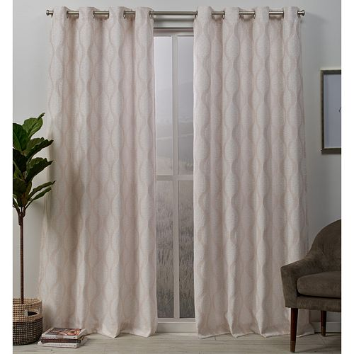 Exclusive Home 2-pack Stark Medallion Textured Window Curtains