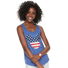Disney's Minnie Mouse Juniors' Americana Graphic Tank Top by Family Fun