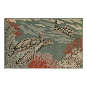 Liora Manne Riviera Sea Turtles Indoor Outdoor Rug
