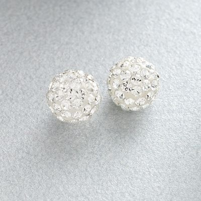 Gold 'N' Ice 14k Gold Crystal Stud Earrings - Made with Swarovski Elements