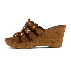 Spring Step Women's Nubuck Slide Sandals - Alisma