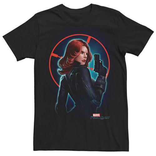 Men's Marvel Avengers Black Widow Target Graphic Tee