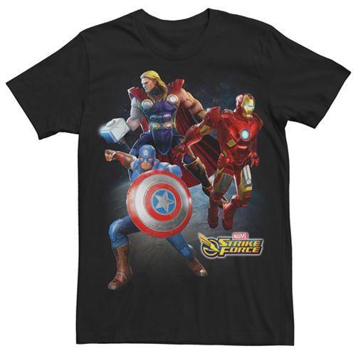 Men's Marvel Strike Force Thor, Iron Man & Captain America Graphic Tee