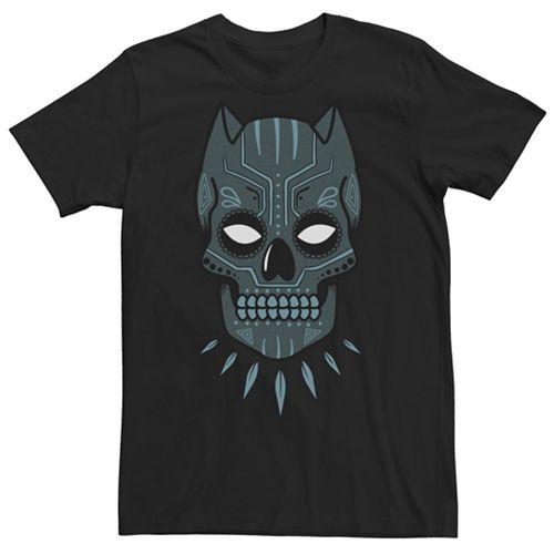 Men's Black Panther Sugar Skull Tee