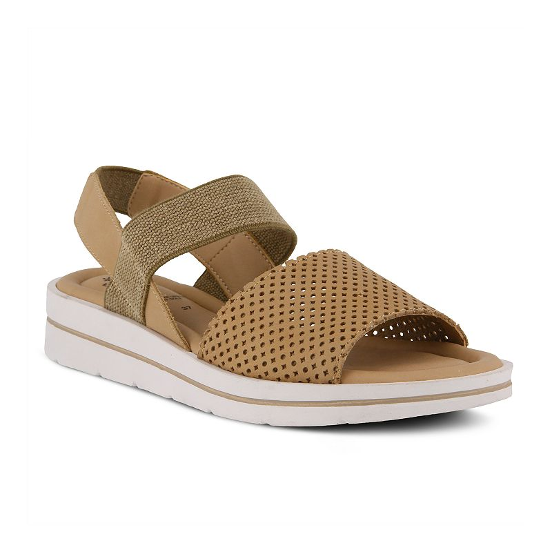 Spring Step Women's Ankle Strap Sandals - Travel, Size: 42, Beig/Green