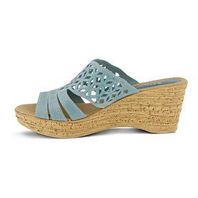 Spring Step Women's Nubuck Slide Sandals - Vino