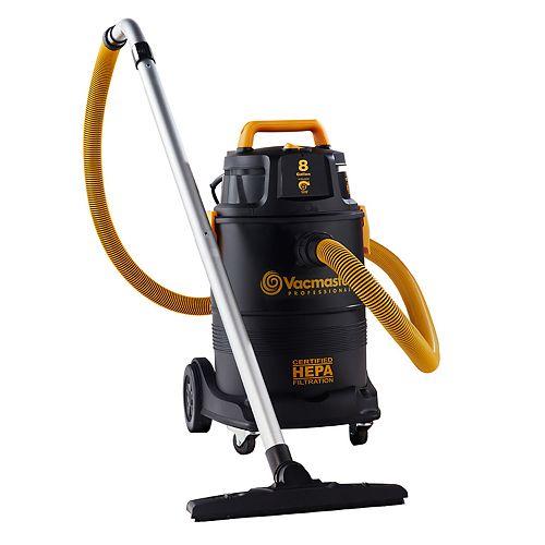 Vacmaster 8 Gallon Professional HEPA Certified Wet / Dry Vacuum
