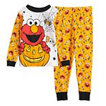 Toddler Boy Sesame Street Elmo Glow-in-the-Dark Halloween Top & Bottoms Pajama Set