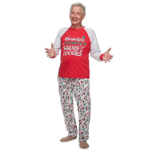 Men's Jammies For Your Families Grandpa Fun Santa Top & Bottoms Pajama Set by Cuddl Duds