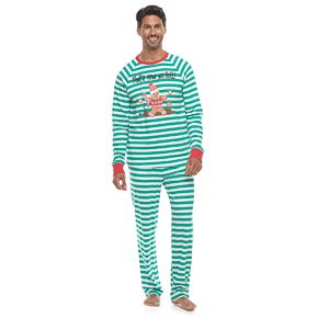 Men's Jammies For Your Families Stripe Baking Top & Bottoms Pajama Set by Cuddl Duds