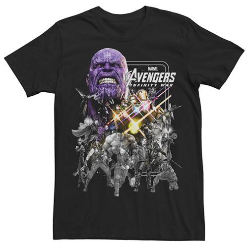 Men's Marvel Avengers Infinity War Pencil Graphic Tee