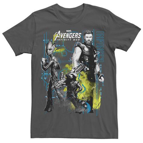 Men's Marvel Avengers Infinity War Space Crew Graphic Tee