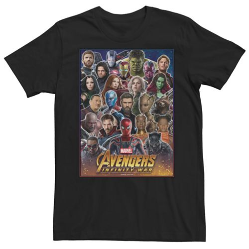 Men's Marvel Avengers Infinity War Together Fight Graphic Tee