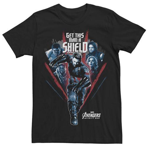 Men's Marvel Avengers Infinity War Captain America Shield Graphic Tee