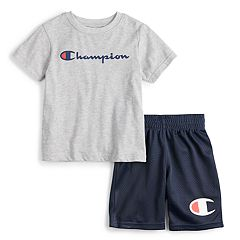6cad3205c08 Boys 4-7 Champion Logo Tee   Shorts Set