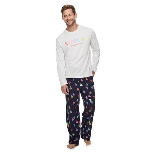 Men's Jammies For Your Families Everyone is Santa's Fave Family Tee & Pants Pajama Set