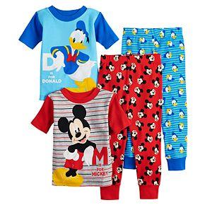 Disney's Mickey Mouse & Donald Duck Toddler Boy Tops & Bottoms Pajama Set