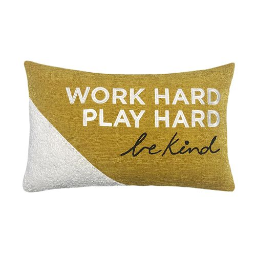 SONOMA Goods for Life™ Work Hard Feather Fill Oblong Throw Pillow