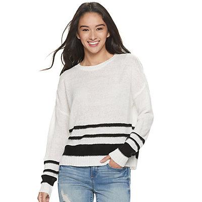 Juniors' SO Striped Pullover Sweater