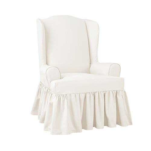 Sure Fit Scotchgard Relaxed Fit Wing Chair Slipcover
