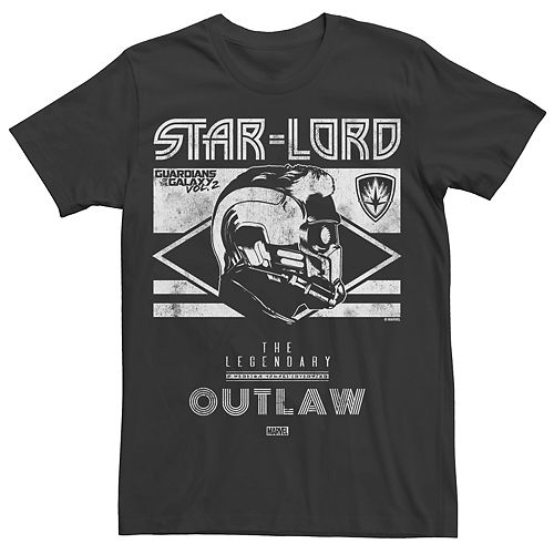 Men's Marvel Guardians of the Galaxy 2 Star Lord Outlaw Graphic Tee
