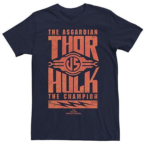 Men's Marvel Thor Ragnarok Vs Hulk Asgardian Graphic Tee