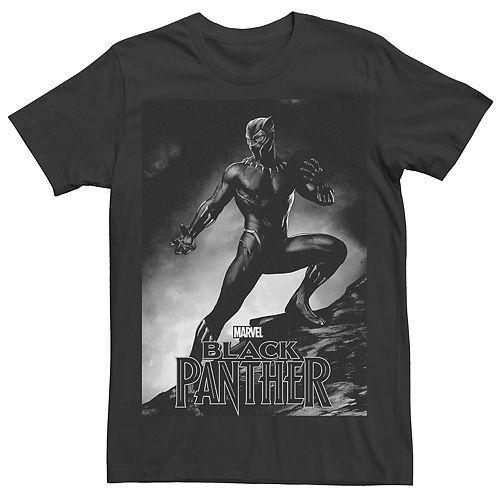 Men's Marvel Black Panther Posing Graphic Tee