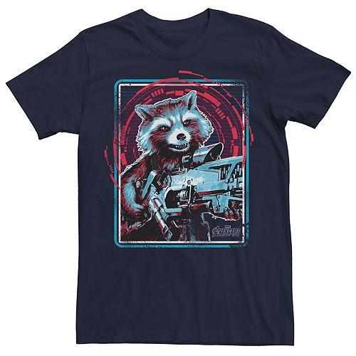 Men's Marvel Avengers Infinity War Rocket Raccoon Graphic Tee