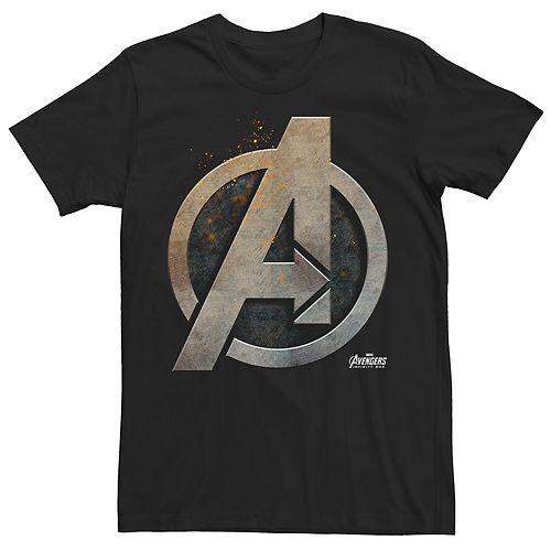Men's Marvel Avengers Infinity War Steel Shield Graphic Tee