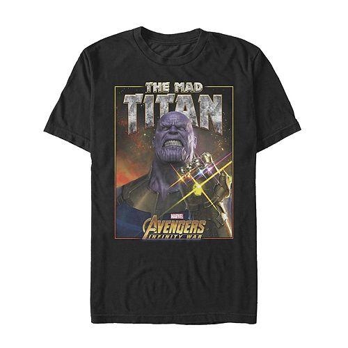 Men's Marvel Avengers Infinity War Thanos Titan Graphic Tee