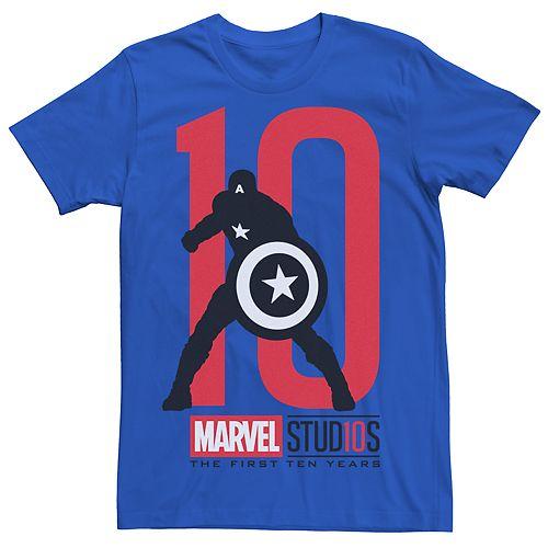 Men's Marvel Studios Captain America 10 Graphic Tee