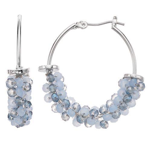 Women's Simply Vera Vera Wang Beaded Hoop Earrings