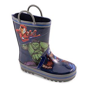 Marvel Avengers Toddler Boys' Waterproof Rain Boots