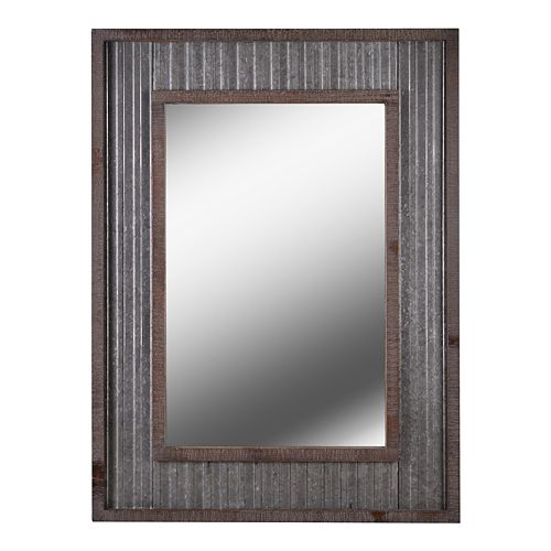 Kenroy Home Westbend Galvanized and Distressed Wood Wall Mirror