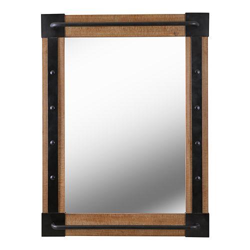 Kenroy Home Kestrel Reclaimed Wood and Matte Black Wall Mirror