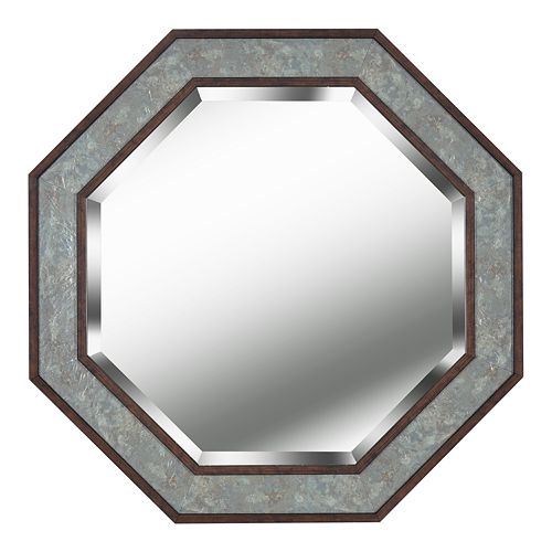 Kenroy Home Saundra Slate and Antique Brown Wall Mirror