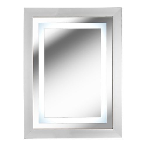 Kenroy Home Gaper Brushed Nickel LED Mirror