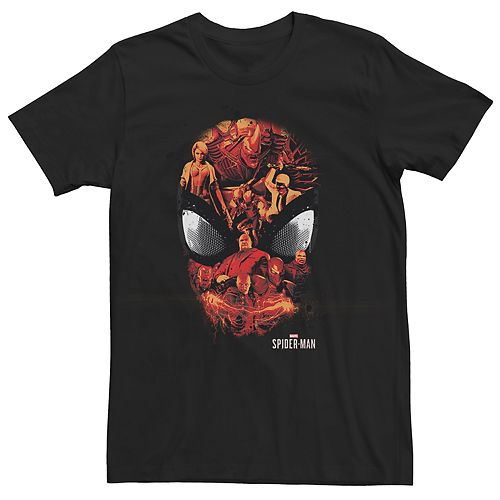 Men's Spider-Man Gamerverse Villains Mask Tee