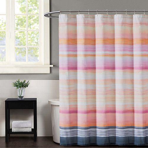 Christian Siriano Sunset Stripe Shower Curtain