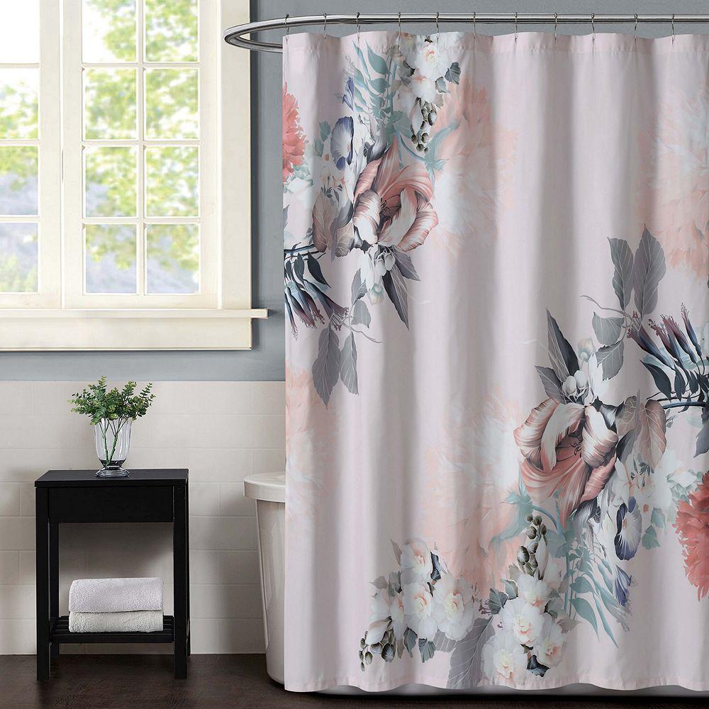 Christian Siriano Dreamy Floral Shower Curtain