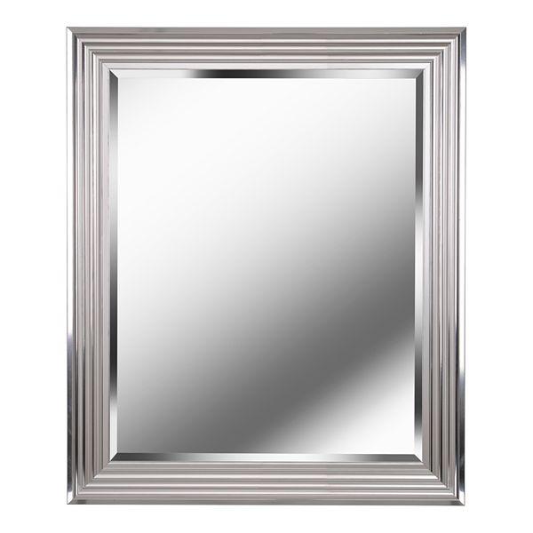 Kenroy Home Lyonesse Chrome Wall Mirror, Lightweight Bathroom Mirror
