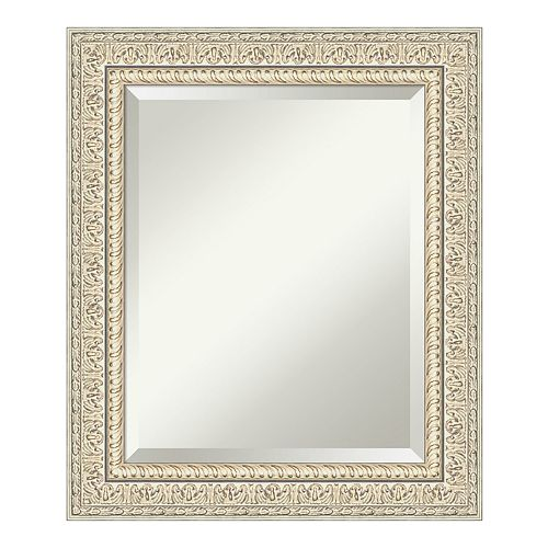 Amanti Art Baroque Cream Wood Medium Wall Mirror