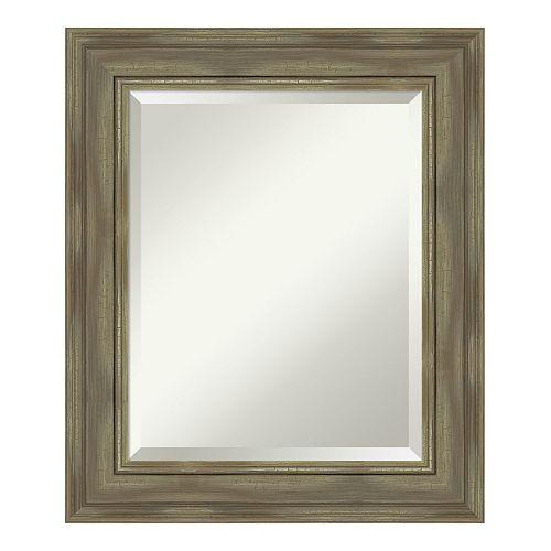 Amanti Art Alexandria Greywash Wood Medium Wall Mirror