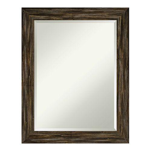 Amanti Art Fencepost Brown Wall Mirror