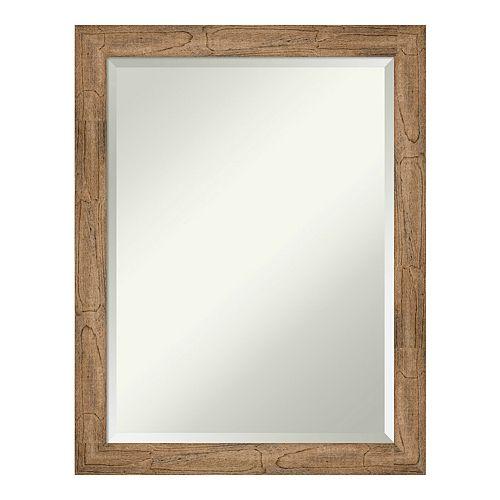 Amanti Art Owl Brown Narrow Wood Square Wall Mirror